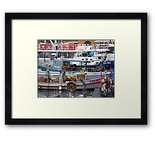 IL MERCATO NEL MARE - BUT WHAT LOVELY MARKET IN THE SEA - CAMOGLI - ITALY .EUROPA-VETRINA RB EXPLORE 27-11-2012 Framed Print