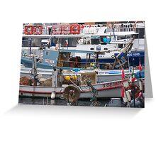 IL MERCATO NEL MARE - BUT WHAT LOVELY MARKET IN THE SEA - CAMOGLI - ITALY .EUROPA-VETRINA RB EXPLORE 27-11-2012 Greeting Card