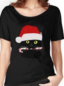 Christmas Cat Closeup Women's Relaxed Fit T-Shirt