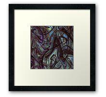 Digital Expressionism Study 2 Abstract Art Framed Print
