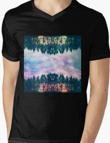 Trippy rainbow forest Mens V-Neck T-Shirt