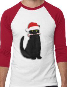 Christmas Cat Men's Baseball ¾ T-Shirt