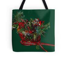 """Holiday Crystal Sleighs""© Tote Bag"