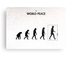 99 Steps of Progress - World peace Metal Print