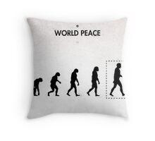 99 Steps of Progress - World peace Throw Pillow