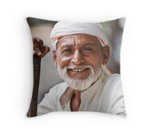 Push Cart Man Throw Pillow