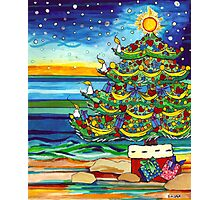 Christmas tree With Stars and Beach Photographic Print