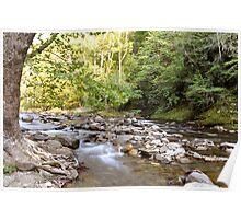 River Through Smoky Mountains 2 Poster