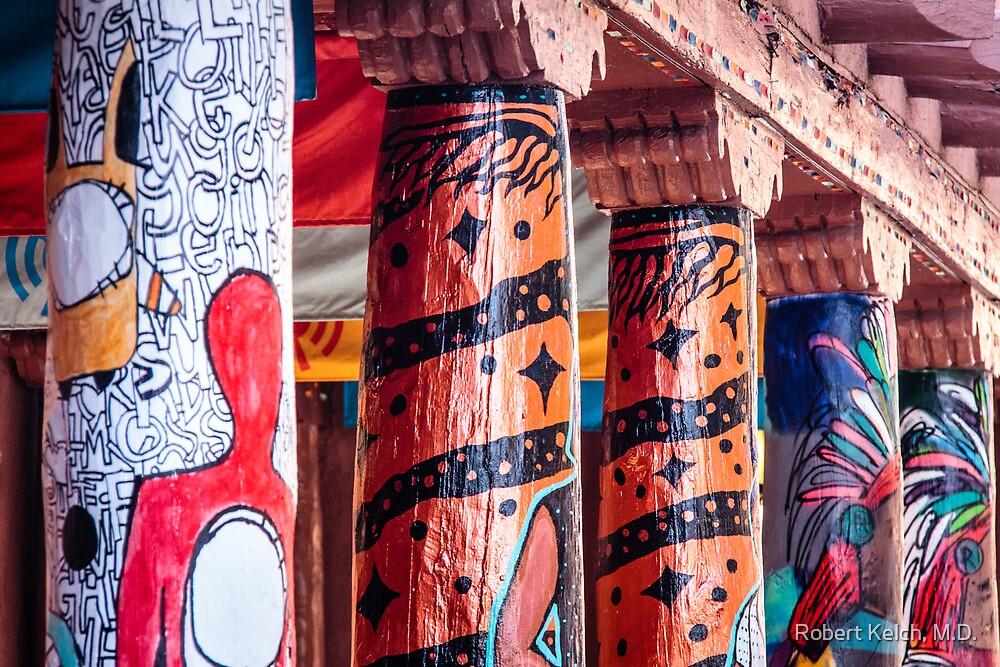 Colorful Columns in Santa Fe by Robert Kelch, M.D.