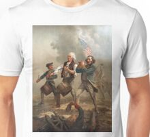 The Spirit of '76 aka Yankee Doodle by Archibald Willard (c 1876) Unisex T-Shirt