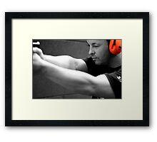 The Shooter Framed Print