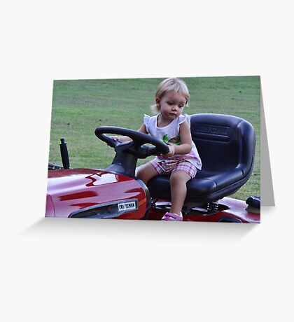Can I cut the grass uncle Carl? Greeting Card