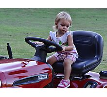 Can I cut the grass uncle Carl? Photographic Print