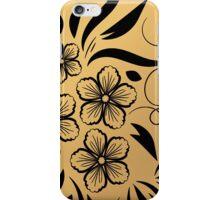 Gold Floral Metallic Pattern iPhone Case/Skin