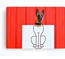 Cartoon dog Canvas Print