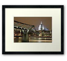 Millenium Bridge, London, England, UK * Framed Print
