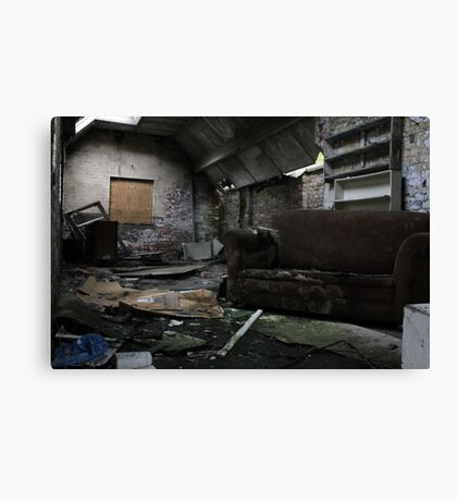 Abandoned House - Urban Decay Canvas Print
