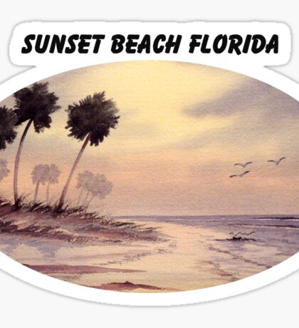 Sunset Beach Tarpon Springs Florida Sticker