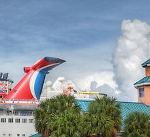 Cruise Ship at the Prince George Wharf Port in Downton Nassau, The Bahamas by Jeremy Lavender Photography