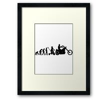 Motorcycle Evolution Framed Print
