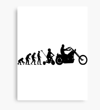 Motorcycle Evolution Canvas Print
