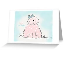 Pink The Poodle Greeting Card