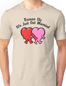 Funny Just Married Unisex T-Shirt