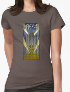 Metropolis Poster in Stained Glass (False Color) Womens Fitted T-Shirt