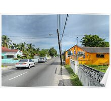 Montrose Avenue in Nassau, The Bahamas Poster