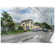 Mount Royal Avenue & Rosetta Street in Nassau, The Bahamas Poster