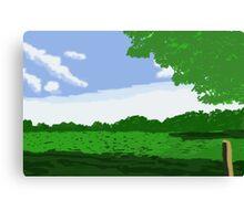Green Landscape  Canvas Print