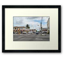 Mount Royal Avenue in Nassau, The Bahamas Framed Print