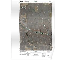 USGS Topo Map Washington State WA Leahy 20110425 TM Poster