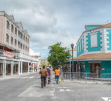 Bay Street & George Street in Downtown Nassau, The Bahamas by 242Digital