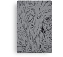 Fineliner pen drawing of a tree Canvas Print