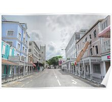 George Street in Downtown Nassau, The Bahamas Poster
