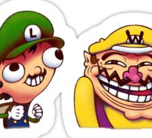 Mario Luigi Wario and Waluigi Sticker