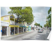 Bay Street in Downtown Nassau, The Bahamas Poster