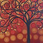 Autumn Apple Tree by Diana Plaisance