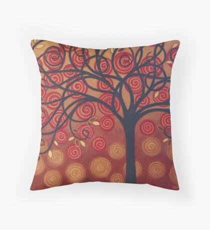 Autumn Apple Tree Throw Pillow