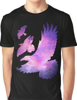 Divergent Raven Tattoo Galaxy Graphic T-Shirt