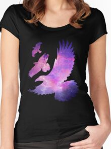 Divergent Raven Tattoo Galaxy Women's Fitted Scoop T-Shirt