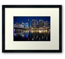 Darling Harbour at Night Framed Print
