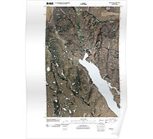 USGS Topo Map Washington State WA Omak Lake 20110404 TM Poster