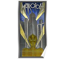 Metropolis Poster in Stained Glass (False Color) Poster