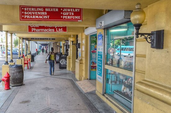 Shopping on Bay Street in Downtown Nassau, The Bahamas by Jeremy Lavender Photography
