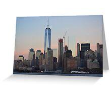 Skyline Lower Manhattan Greeting Card
