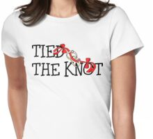Tied The Knot Just Married Womens Fitted T-Shirt