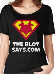The Blot Shield (White) Women's Relaxed Fit T-Shirt
