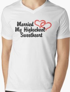 Married Highschool Sweetheart Mens V-Neck T-Shirt